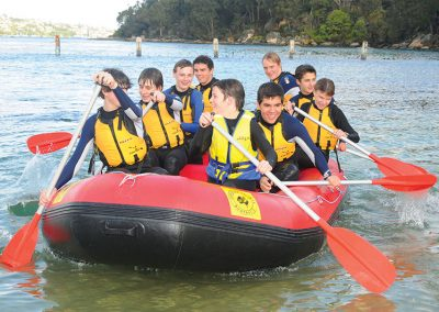 sea rafting, sydney harbour, school activity